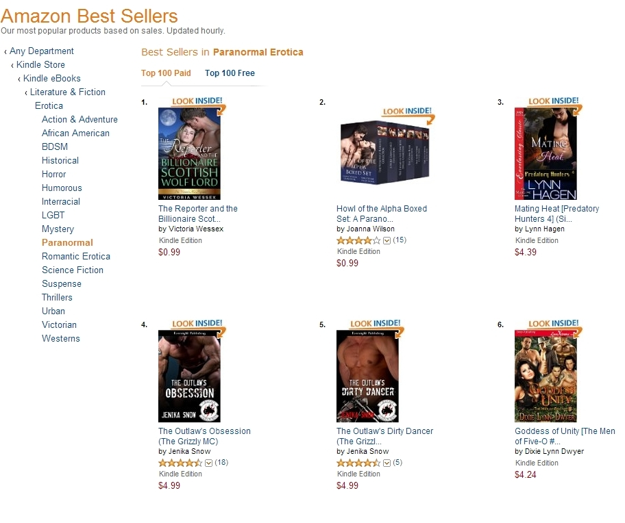 At #1 in paranormal chart small pic